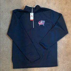 Antigua blue jackets quarter zip NWT